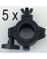 """5x Nylon lighting 2"""" O clamps 2"""" with 1.5"""" inserts / dia reducer"""
