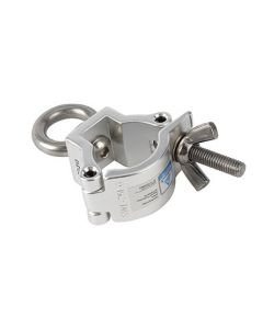 Clamp - Aluminium eye ring coupler suit 32-35mm truss/tube TUV load rated 50kg