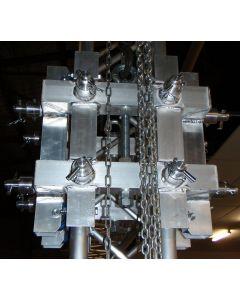 Alutruss ALUT21B sleeve block for 290mm aluminium lighting box truss