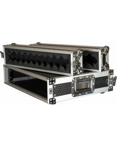 "CaseToGo 2RU Spaces 19"" rack mount amplifier case"
