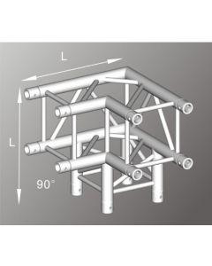 Alutruss ALU43205B aluminium three-way box truss corner / 290MM