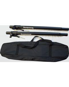 2x Soundking DB023B adjustable height speaker distance rod / pole suits 35mm dia socket