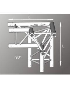Alutruss ALU33105RB aluminium three-way tri-truss Right Corner / 290MM