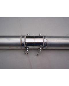 Aluminium 50mm pipe - 2m long with quick lock connector