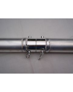 PACK OF 4 - 2m Aluminium 50mm pipes - includes quick lock connectors