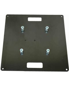BLACK - 600 x 600 Steel base plate / top plate for 290 box or 290 tri-truss