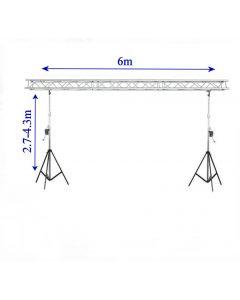 Box Truss stand - 6m 290mm ACE box truss Heavy duty winch up lighting truss