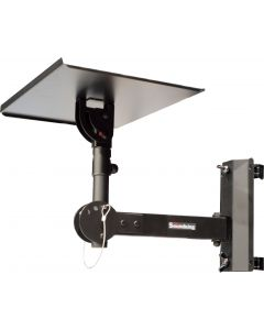 Adjustable Tray + tilt 35mm pole socket + wall/truss bracket with 50mm clamps