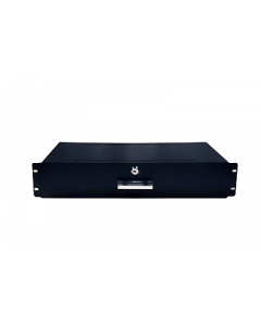 "2RU (88.8mm) 19"" rack mountable shallow draw, black."