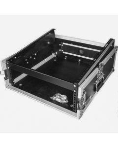 "CaseToGo 19"" 3U amp / 12RU mixer slanted flight road case"