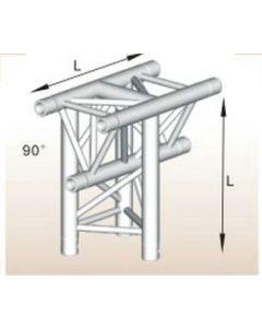 Alutruss ALU33305B aluminium T-section tri-truss corner / 290MM