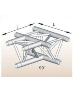 Alutruss ALU33505B aluminium T-section tri-truss corner / 290MM