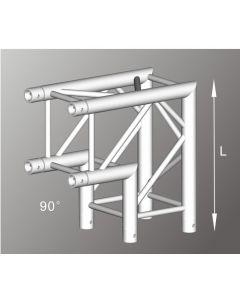 Alutruss ALU42305B aluminium two-way box truss corner / 290MM
