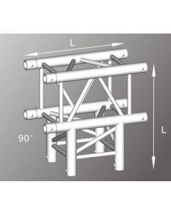 Alutruss ALU43105B aluminium three-way box truss corner / 290MM