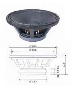 "Ande LB1560 15"" 600W RMS driver / speaker CAST FRAME"