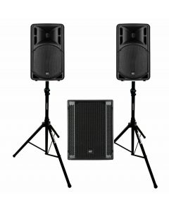 """RCF ART312A MK4 12"""" active speakers with SUB 705-ASII subwoofer"""