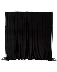 Black 6m drop x 5m width velveteen drape - 210GSM