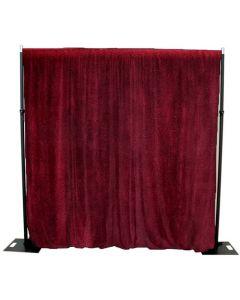 Burgundy/Red 3m x 3m cotton Velvet Drape 365GSM Fire Retardant