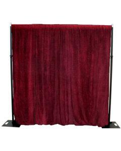 Burgundy/Red 4m drop x 3m width cotton velvet drape 365gsm Fire Retardant