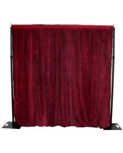 Burgundy/Red 6m drop x 3m width cotton Velvet Drape 365GSM Fire Retardant