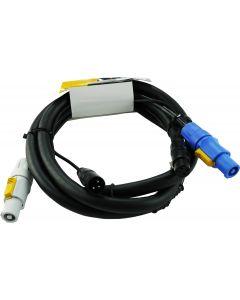 Powercon Neutrik Signal Audio 3pin XLR combo cable 2m