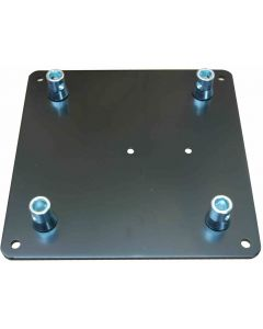 Black top / base plate 350 x 350 x 8mm plate for 290mm box truss or tri-truss