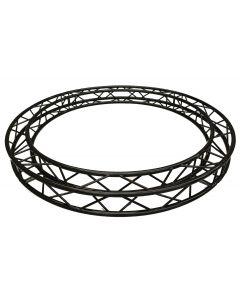 BLACK Circular truss - 2m in diameter 290mm aluminium BOX-truss