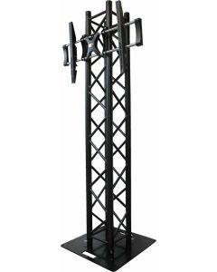 Box truss Black 2m Plasma Screen Stand package with plasma bracket, with 600mm base plate