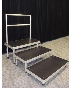 3 level step choir riser platform - portable stage panels 60cmx 120cm size
