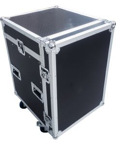 "CaseToGo 19"" 12U amp / 12RU mixer slanted flight road case"