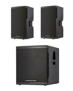 CERWIN VEGA CVX-10 CVE-18S 1000W POWERED SPEAKER PACKAGE