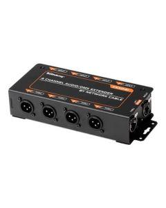 Soundking CXA041 4-Channel audio and DMX ethernet extender via Cat5 / Cat6 cable