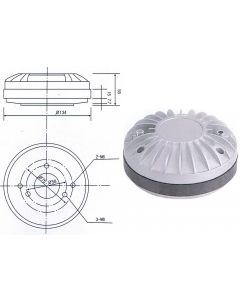 Replacement diaphragm for Ande D441 100W compression driver