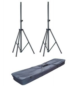 Soundking 2x DB012B aluminium tripod speaker stand package with bag