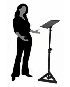 Portable Menu Holder Guestbook School Speaking Stand Podium Lectern (no additional tray)