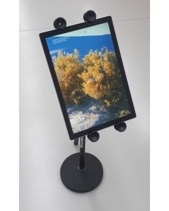 Tabletop desktop short boom stand with universal iPad tablet holder
