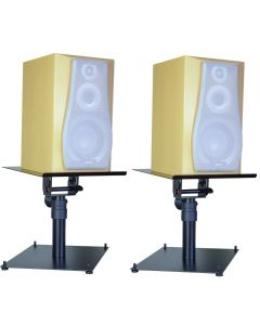 PAIR OF TABLE TOP MONITOR STAND WITH BASE PLATE
