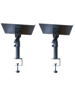 PAIR OF TABLE TOP MONITOR STAND WITH TABLE CLAMP