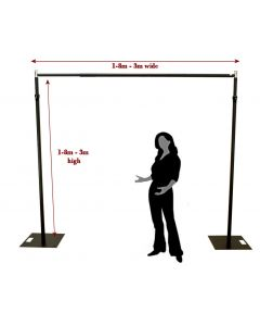 3m x 3m BLACK Pipe and Drape support system / Wedding Event backdrop - 3m max height