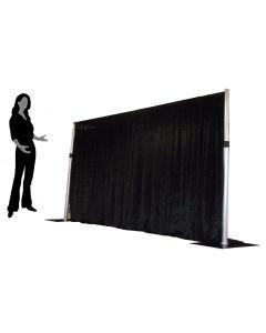 Black 1.2m drop x 3m width Velveteen drape - 210gsm