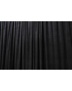 Black 3m drop x 3m width Velvet drape with pleats  -  365gsm Fire Retardant