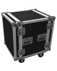 "CaseToGo 12RU Spaces 19"" rack mount case with castors"