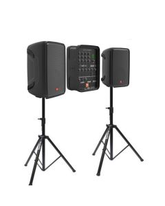 "JBL Eon208p 8"" PA System with 8 channel mixer and bluetooth + BONUS speaker stands"