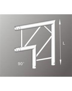 Alutruss ALU22305B 290mm aluminium flat truss 90deg corner