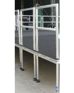 2m guard rail for portable stage