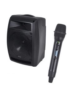 PR Helix HX-208 200W battery portable PA with 1 handheld wireless mic + Bluetooth module