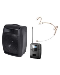 PR Helix HX-208 200W battery portable PA with headset mirophone + Bluetooth module