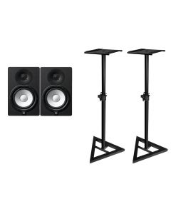 """Yamaha HS5-MP Limited Edition Matched Pair 5"""" Active Studio Monitors - With MONITOR STANDS"""