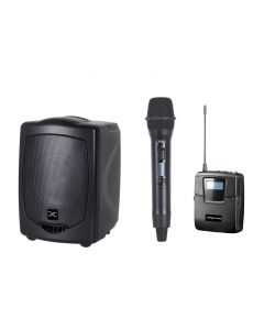 PARALLEL AUDIO HX-765 70WATTS PORTABLE PA SYSTEM WITH DUAL RECEIVER, BELTPACK AND HANDHELD TRANSMITTERS