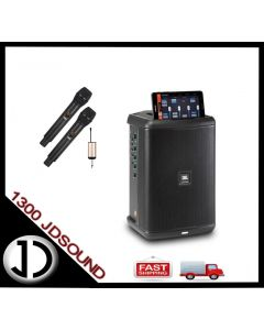 JBL EON One Compact battery operated portable PA speaker monitor + Dual Wireless Microphones